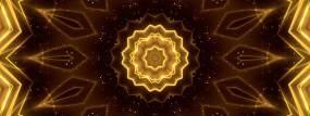 4K寬屏金色線條花紋(循環)視頻素材