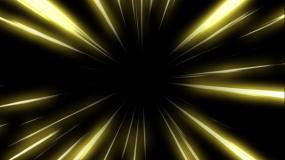 金色发光穿梭速度线特效视频素材