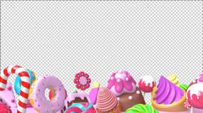 糖果美食元素遮罩視頻素材
