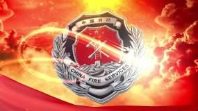 关注消防LOGO演绎E3D片头AE模板