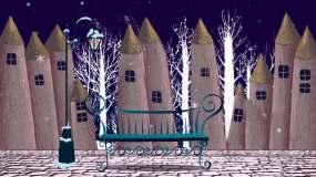 卡通城堡雪景视频素材
