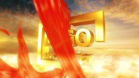 金色大气红绸LOGO演绎场景AE模板AE模板