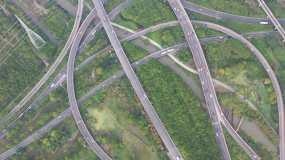 4K原素材-航拍上海城市交通永利官网网址是多少