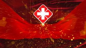 医院红十字白衣天使宣传片头无字版视频素材