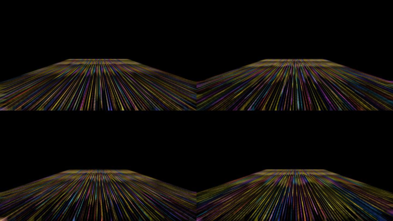 彩色光线地面循环通道