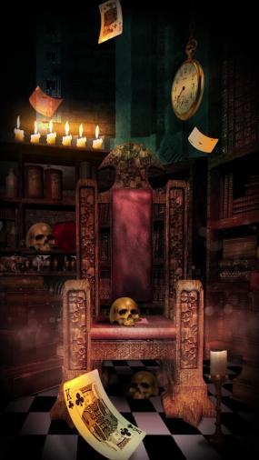 詭異王座骷髏蠟燭撲克視頻素材