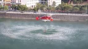 实拍直升机打水救援永利官网网址是多少