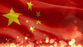 红旗粒子主题背景视频素材