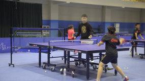 4K-学生乒乓球练习视频素材包