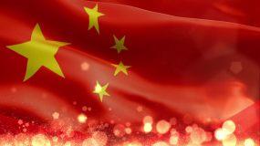 红旗飘飘粒子背景视频素材