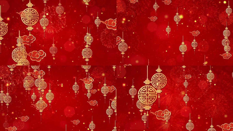 中国结喜庆舞台循环