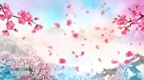 《桃花红杏花白》歌曲背景视频素材
