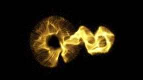 大氣金色粒子光線消散效果視頻素材