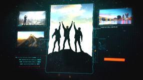 科技感商务图文展示AE模板