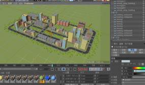 C4D+FBX+3dsmax-巨型城市C4D工程