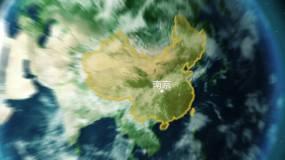 穿越星空云层到中国AE模板