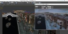 长安集市古代建筑带动画3Dmax