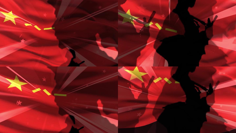军旗剪影八一晚会背景1
