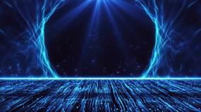 蓝色辉煌粒子上升新年年会晚会舞台永利官网网址是多少