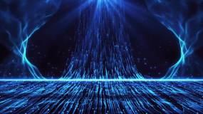 蓝色唯美粒子上升新年年会晚会舞台永利官网网址是多少