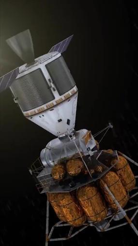 探索太空飞行器卫星探月器视频素材