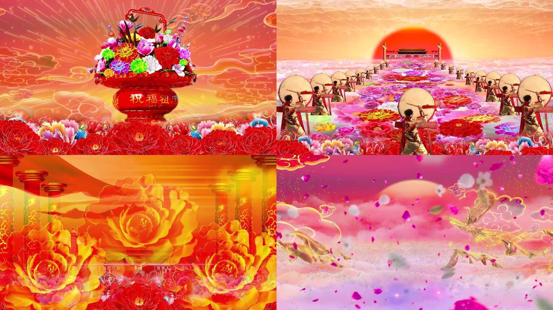 开场舞花开盛世LED背景视频素材