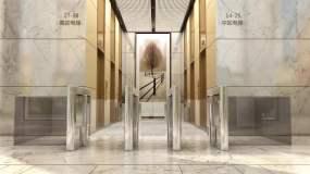 高端写字楼大堂进电梯三维素材永利官网网址是多少包