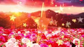 紅星閃閃歌曲配樂成品視頻素材