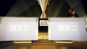 颁奖晚会奖杯人物图片展示AE模板