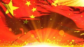 紅旗飄飄視頻素材