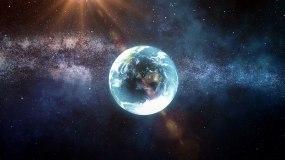 地球太空俯沖城市AE模板AE模板