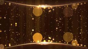 MT009-3弧形金色粒子上升舞臺背視頻素材