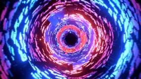 彩色科幻隧道動畫視頻素材