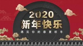 新年宫廷风春夏秋冬宣传视频模板AE模板