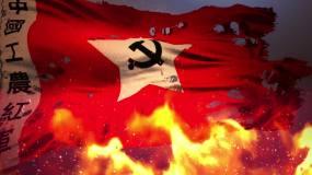 红歌通用背景-4K燃烧的红军军旗无缝循环永利官网网址是多少