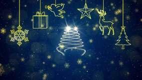 圣诞节圣诞狂欢标题片头AE模板