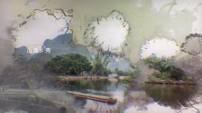 水墨风格图片展示模板AE模板