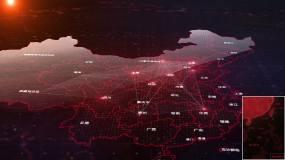 【原创】中国地图(科技版)AE模板