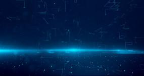 科技數字線條藍色4K背景循環視頻素材