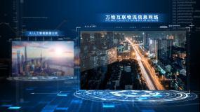 藍色科技數字信息圖文視頻展示AE模版AE模板