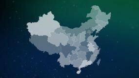 中國地圖視頻素材