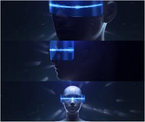 科技机器人音频跳动AE模板