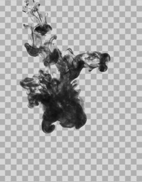 墨水墨滴入水中素材透明通道alpha01视频素材包