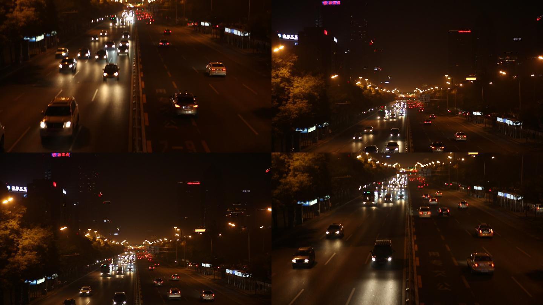 北京夜晚车流