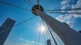【原创】4K赤峰桥仰拍天空视频素材