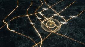 【原创】金色粒子光线区位AE模板