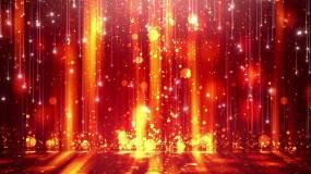 流光歲月金色流星粒子視頻素材