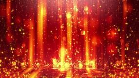 流光歲月金色粒子舞臺視頻素材