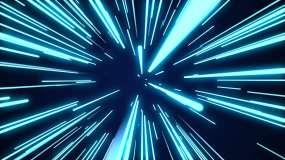 三維穿梭霓虹燈舞臺背景視頻素材