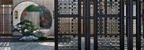 新中式庭院通用意境小景視頻素材